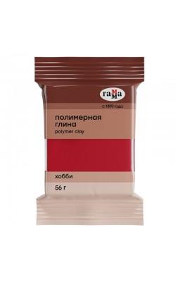 """Полимерная глина """"Гамма"""" Хобби, яркий красный, 56 гр"""