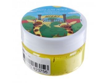Паста для лепки полимерная самоотверждающаяся Artifact, желтая