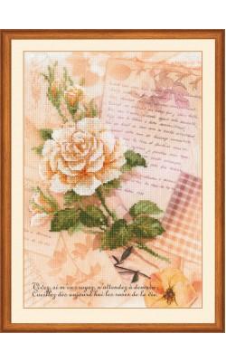"""Набор для вышивания крестом """"Письма о любви. Роза"""", 21*30 см"""