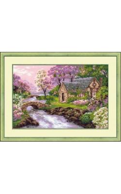 """Набор для вышивания крестом """"Весенний пейзаж"""", 38*26 см"""