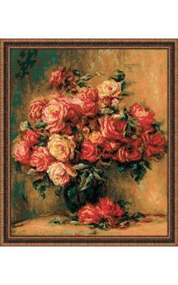 """Набор для вышивания крестом """"Букет роз"""", 40*48 см"""