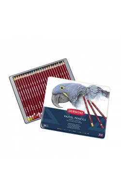 """Набор пастельных карандашей """"Derwent"""" Pastel Pencils, 24 цвета, металлический пенал"""