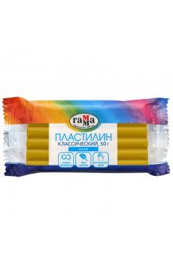 """Пластилин Гамма """"Классический"""", желтый, 50г"""