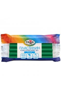 "Пластилин Гамма ""Классический"", зеленый, 50г"
