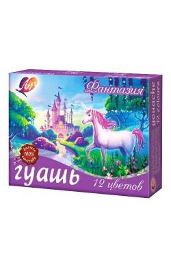 "Гуашь ""Фантазия"" 12 цветов по 15мл"