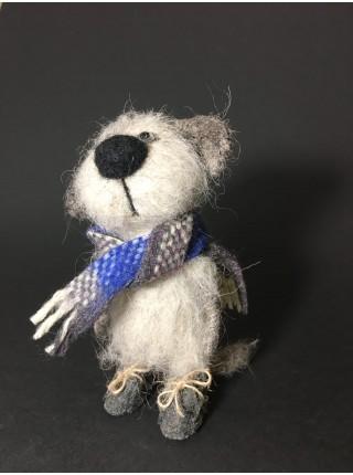 Котя в синем шарфе, сухое валяние