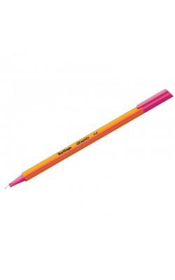 """Ручка капиллярная """"Berlingo"""" Rapido, 0,4 мм, розовый, трёхгранная"""
